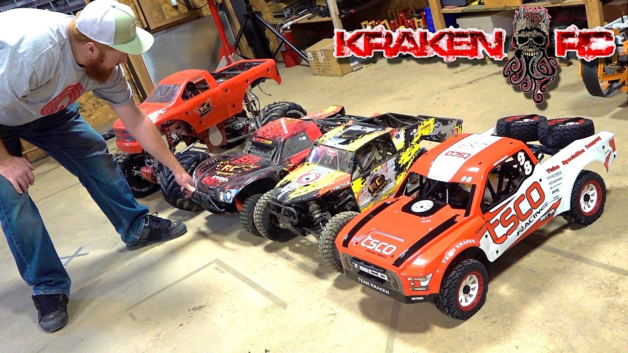 LARGE GAS POWERED TOYS! KRAKEN KV5TT 29cc RTR TSCO TRUCK | RC ADVENTURES