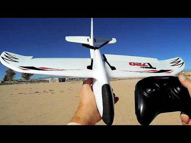 OMPHobby T720 4 Channel RTF Stabilized Brushless RC Powered Glider Flight Test Review