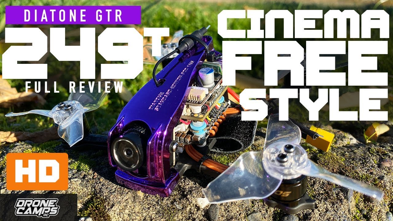 CINEMA & FREESTYLE! – DIATONE GTR-249T HD – Review & Flights ?