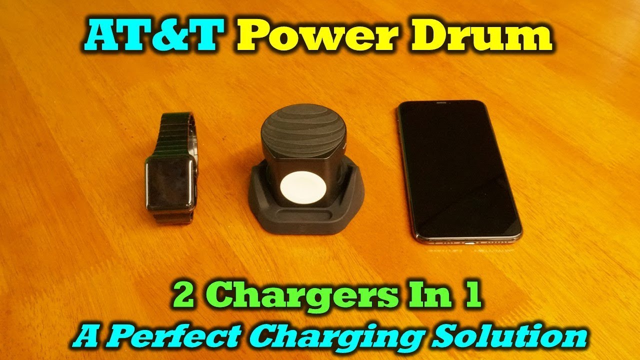 AT&T Power Drum – Incredibly Clever Wireless Charger and Powerbank