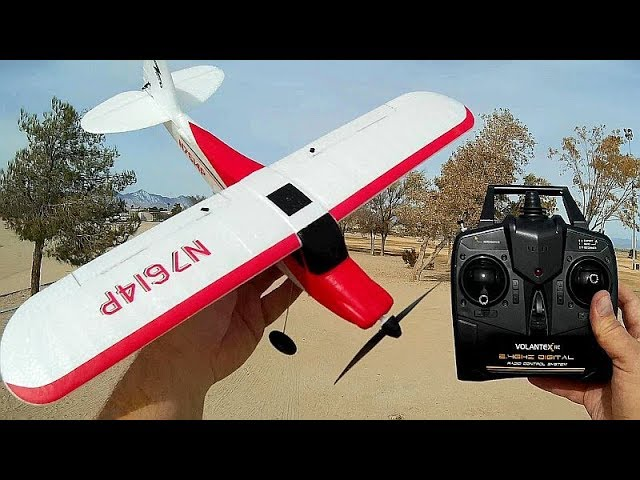 Volantex Sport Cub 761-4 Stabilized 4 Channel Trainer Airplane Flight Test Review