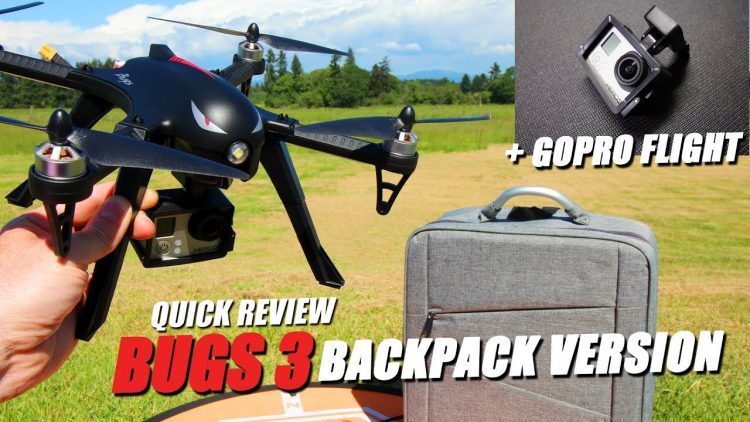 MJX BUGS 3 – Updated Backpack Version – REVIEW & FLIGHT TEST