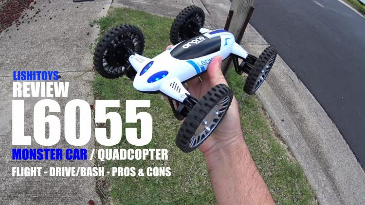 LishiToys L6055 QuadCopter/4×4 Monster Car Review – [Drive/Bash Test, Pros & Cons]