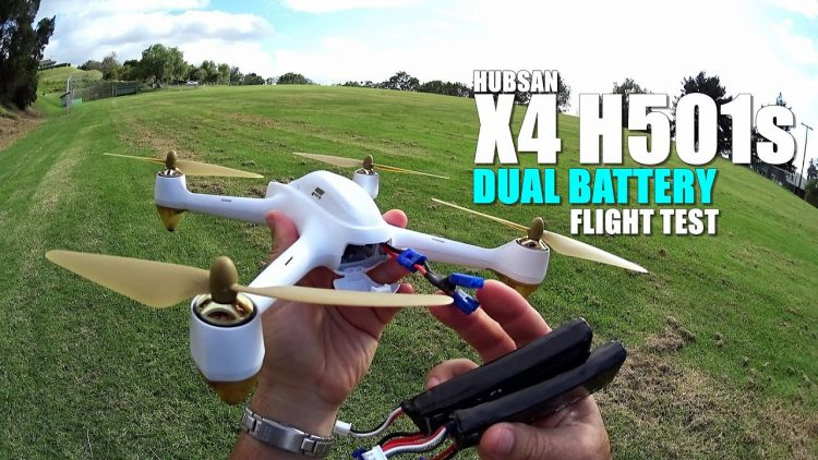 HUBSAN X4 H501s Review – Part 3 – [Dual Battery Mod Flight Test]
