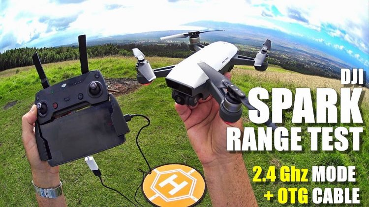 DJI SPARK Review – Part 5 – [In-Depth Range Test in 2.4Ghz Mode with RC Controller & OTG Cable]