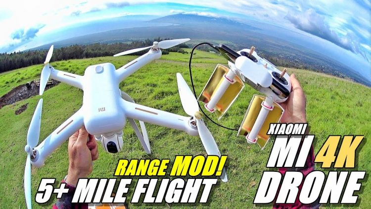 XIAOMI MI Drone 4K – Easy Range Mod & Range Test – 5+ Mile Flight!