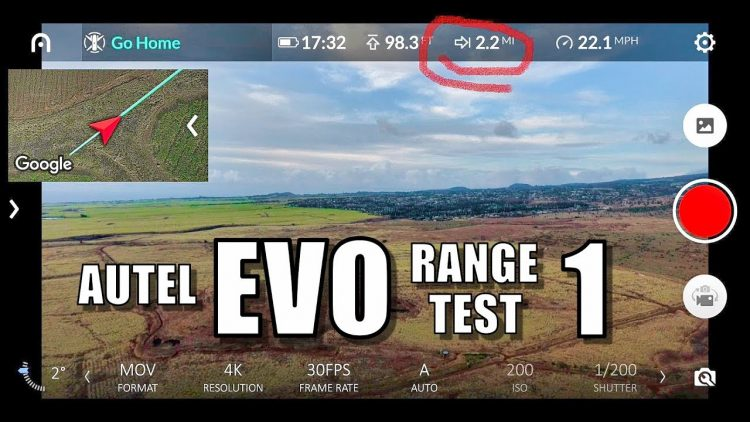 Autel EVO Range Test – [Light Urban Interference] – (Conservative First Try)