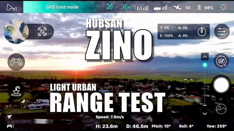 Hubsan ZINO Range Test – How Far Will It Go? (Light Urban) ?