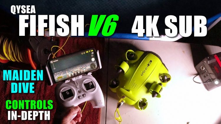 Underwater Drone QYSEA FIFISH V6 Maiden Dive Test + VR Mode – Part 2