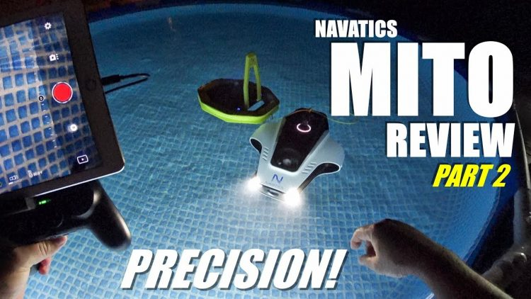 Navatics MITO Solar Wireless Long Range Underwater ROV Review – Part 2 – MAIDEN Dive Test PRECISION