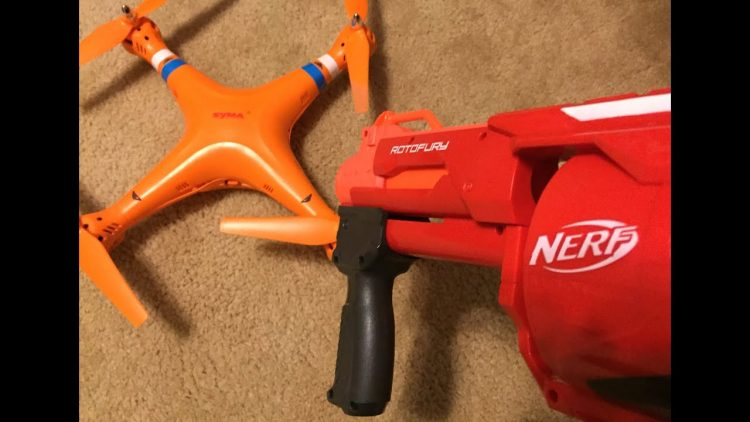 Nerf vs Drone – An Epic Battle!
