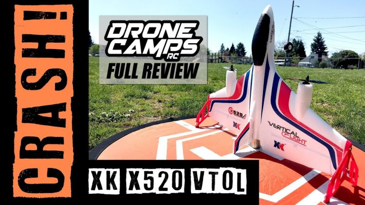 XK X520 – FAIL! WINDY CRASH ! – Brushless VTOL Vertical Takeoff Airplane Review