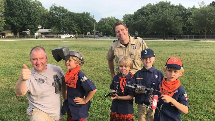 Flying Drones With Cub Scouts