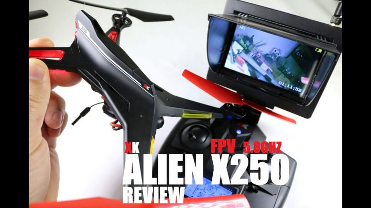 XK ALIEN X250 FPV 5.8ghz Quadcopter Review – [Unbox, Inspection, Setup]