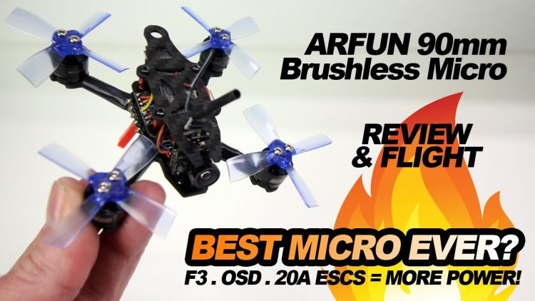 ARFUN 90 – BEST BRUSHLESS MICRO? WITH OSD! – REVIEW