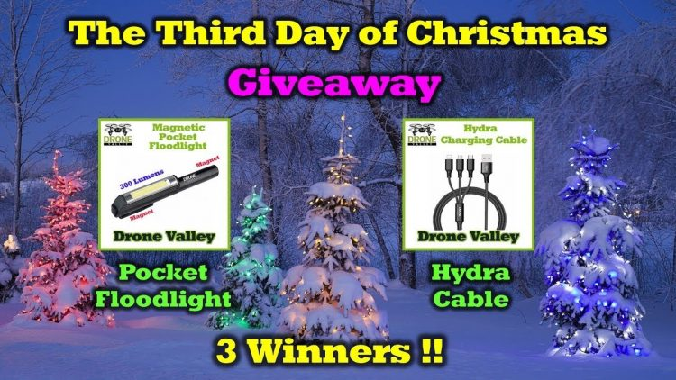 Free Drone Valley Gear – 12 Days of Drone Valley Christmas Giveaways 2019