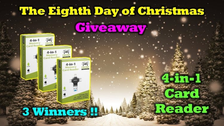 Free Drone Valley 4-in-1 Memory Card Reader – 12 Days of Drone Valley Christmas Giveaways 2019