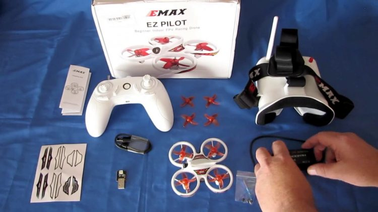 eMax EZ Pilot Beginners RTF Indoor Micro FPV Drone Flight Test Review