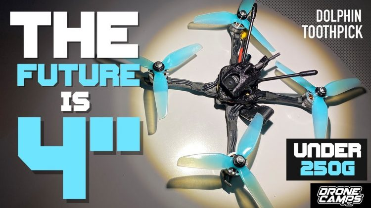 THE FUTURE OF FPV RACING – Geprc Dolphin Toothpick 4″ – FULL Review