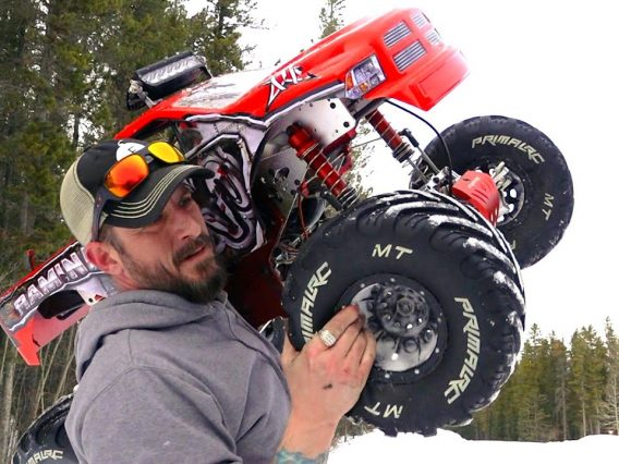 "MAN & his ""TOY"" MONSTER TRUCK – ALWAYS TIGHTEN YOUR NUTS! PRIMAL RC RAMINATOR 