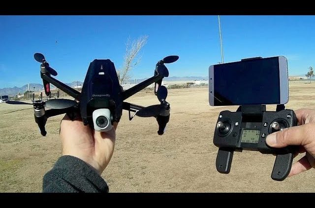KK-13 Dragonfly Brushless GPS 2 Axis Gimbal Drone Flight Test Review