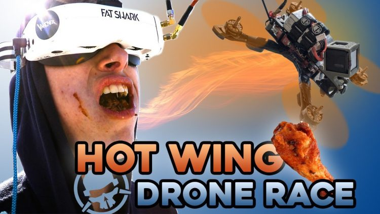HOT WING Drone Racing. You lap, you eat.