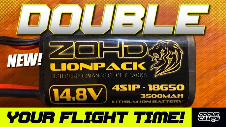 DOUBLE YOUR FLIGHT TIME! – 'NEW ZOHD 4S 18650 LI-ION Battery Packs