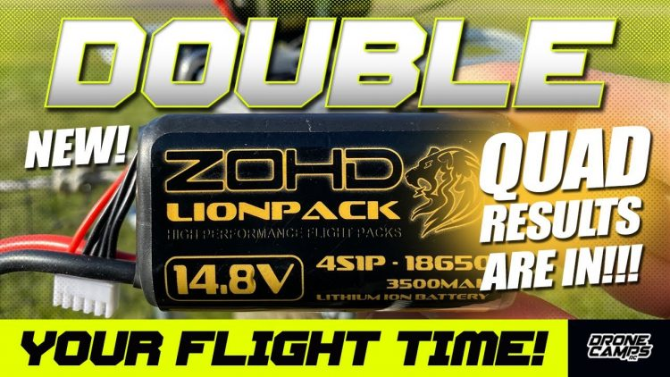 DOUBLE YOUR FLIGHT TIME! – ZOHD 4S 3500 18650 Batteries – QUAD RESULTS!