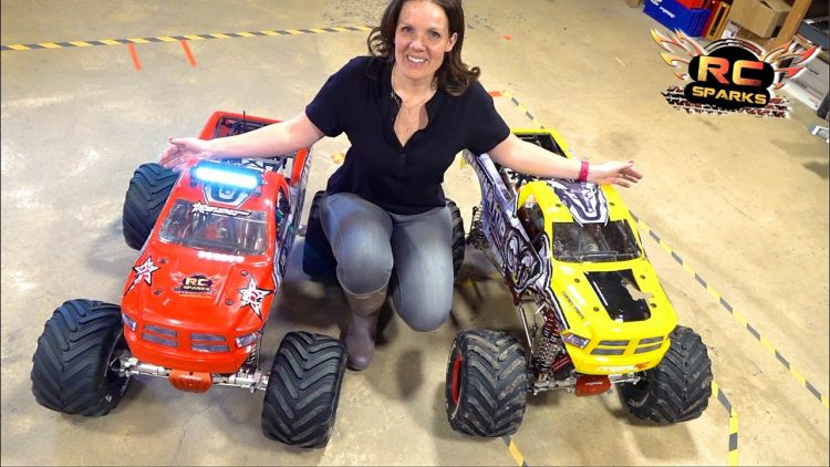 "HIS & HERS ""ToY"" MONSTER TRUCKS – JEM BUILDS a PRIMAL a GAS POWERED PRIMAL RAMINATOR 