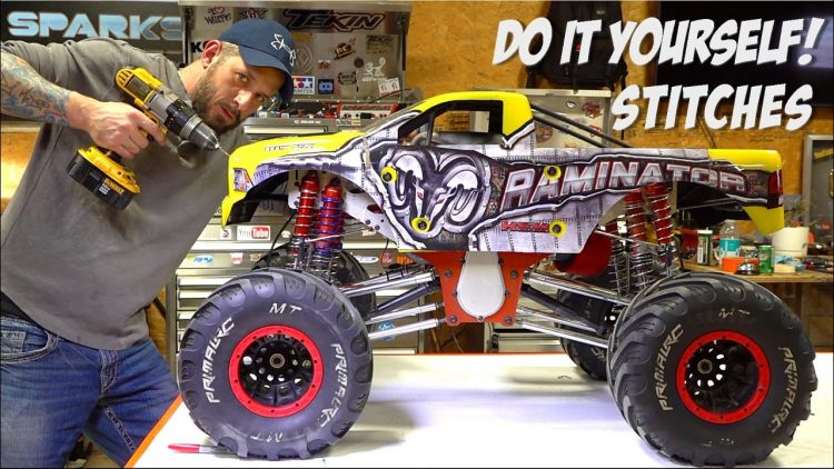 HOW TO STiTCH / FiX LEXAN – BODY REPAiR JOB  PRiMAL RC RAMiNATOR | RC ADVENTURES