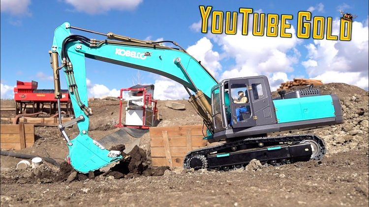 YouTube GOLD 2020 – KOBELCO ON RETAiNER, PREPPiNG the MINE-SiTE for GOLD – S3 Ep. 2 | RC ADVENTURES