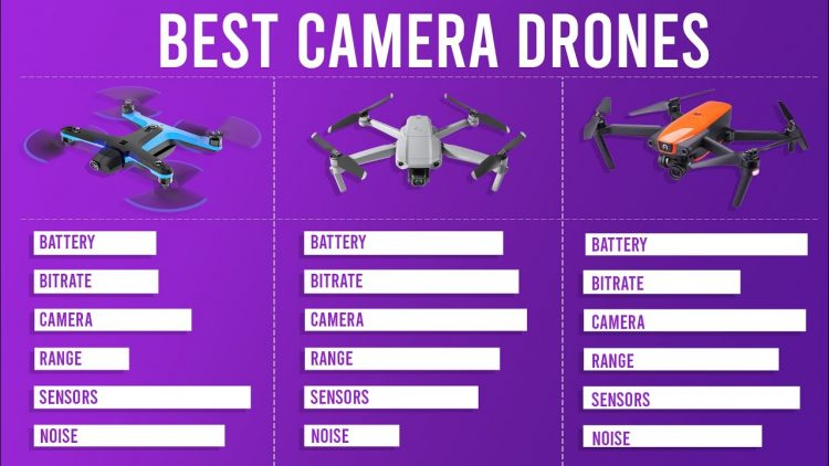 Top 8 Best Camera Drones in 2020 (Graphic Specs compared)