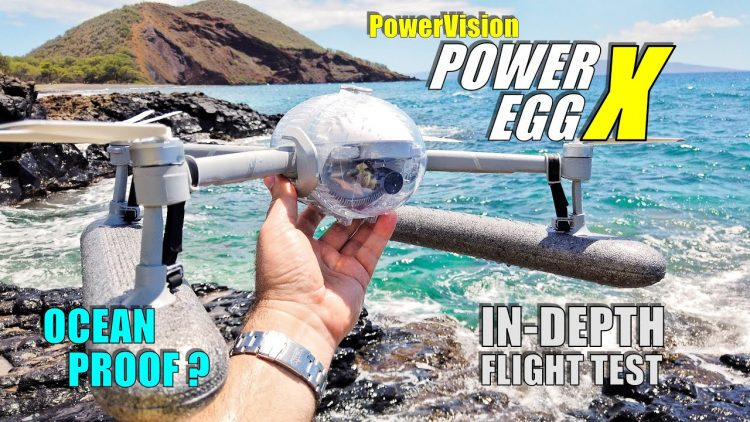 PowerVision PowerEgg X Waterproof Kit Ocean Flight Test Review – Flight & CRASH Test! – Ocean Proof?