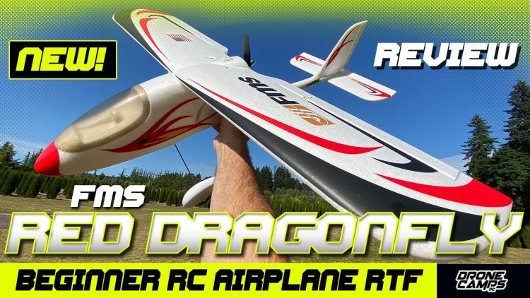 Beginner RC Airplane – FMS Red Dragonfly – FULL REVIEW & FLIGHTS