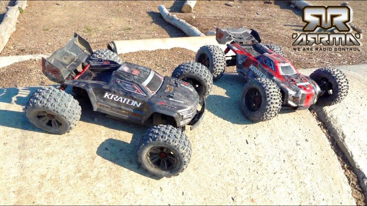 DOUBLE FRONT FLiP to 180 TWiST to BACK FLiP – DUAL ARRMA KRATON STOCK vs EXB BASHOFF | RC ADVENTURES