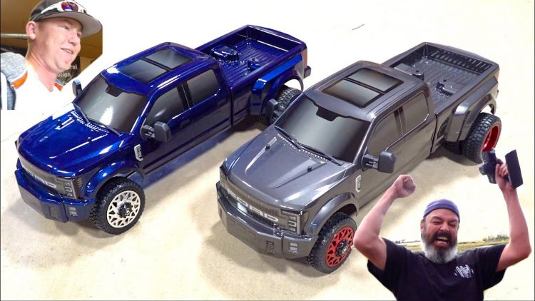 GiViNG 2 FRiENDS BRAND NEW CEN RACiNG FORD F450 DL CUSTOM TRUCKS & TORTURE TESTiNG! | RC ADVENTURES