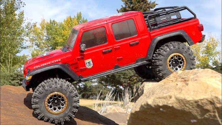 JEEP GLADiATOR RTR PERFORMS AMAZING IN 2020! AXIAL SCX10 3 4×4: BRAND NEW ROCK SETUP | RC ADVENTURES