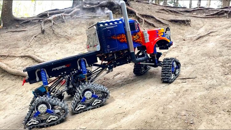 """OPTIMUS """"PRIME-TIME"""" OVERKILL 6x6x6 SEMI TRUCK on TRACKS in DiRT! 
