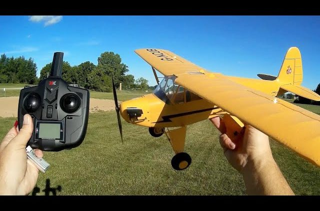 WLToys XK A160 Skylark Flying Model Piper Cub Flight Test Review