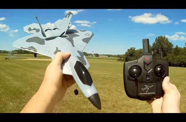 WLToys XK A180 F-22 Raptor Brushless Stabilized RC Plane Flight Test Review