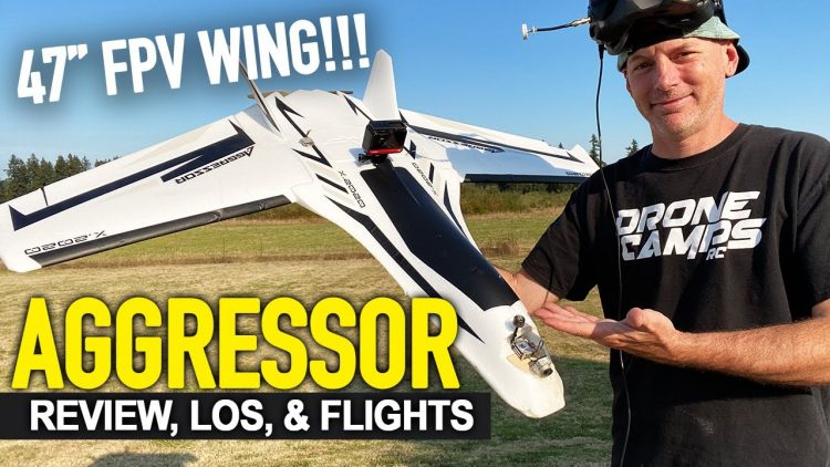 AGGRESSOR Long Range Fpv Wing – 360 VIDEO, DJI FPV, GPS, & LOS FLIGHTS – COMPLETE REVIEW