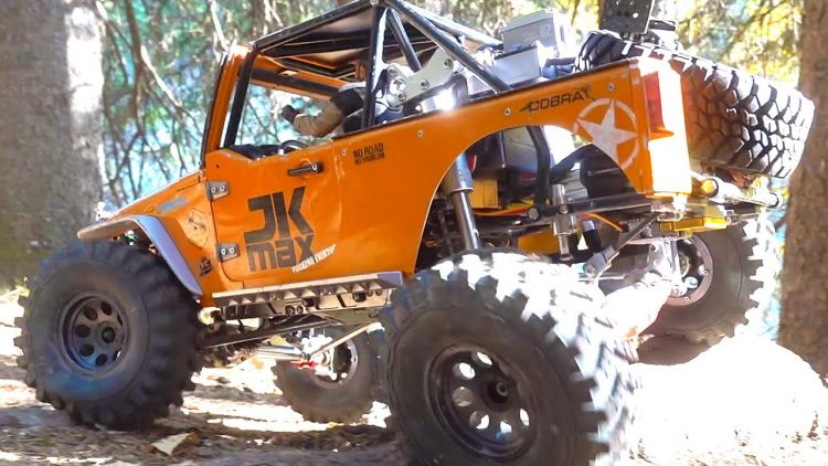CRAZY JEEP JK MAX – Inflatable AIR RIDE SUSPENSION – GREAT for SPEEDING! (PT 2) | RC ADVENTURES