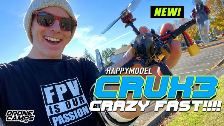CRAZY FAST!!! – Happymodel Crux3 Micro Brushless Quad – REVIEW & FLIGHTS