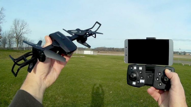 RL R10 Two Armed Folding Camera Drone Flight Test Review