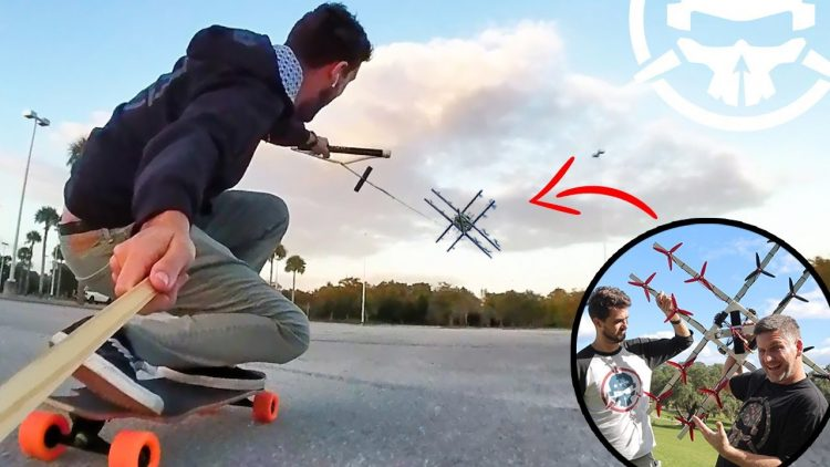 Drone-Boarding!! – Skating behind a 16 MOTOR DRONE!