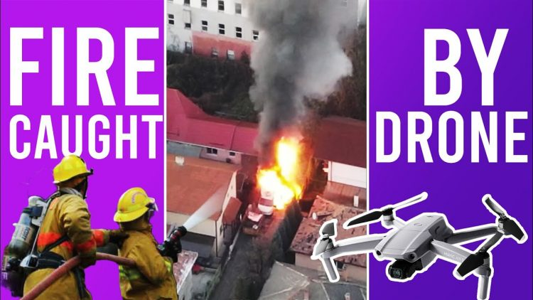 Fire caught by Drone (before firefighters)