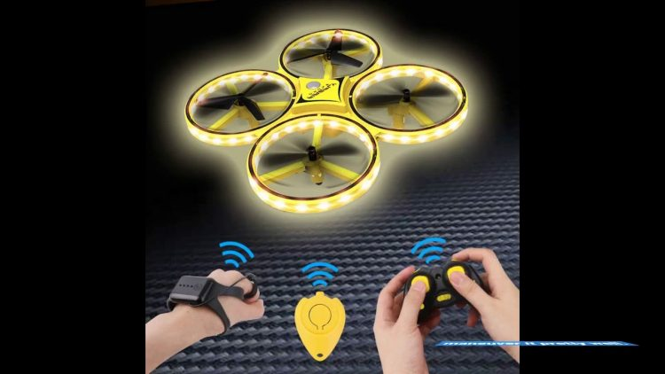 Review Dwi Dowellin Mini Drone for Kids Crash Proof LED Night Lights One Key Take Off Landing F…