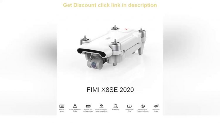 Review FIMI X8SE 2020 Camera Drone for Xiaomi Ecological Chain Brand 4K RC Drone 8KM FPV 3-axis Gim