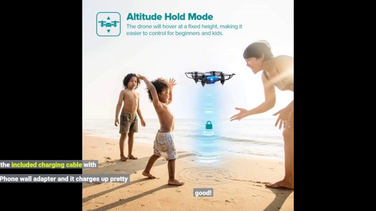 Review Drone for Kids, DROCON Foldable Mini Drone Beginner RC Quadcopter, Equipped with Altitud…