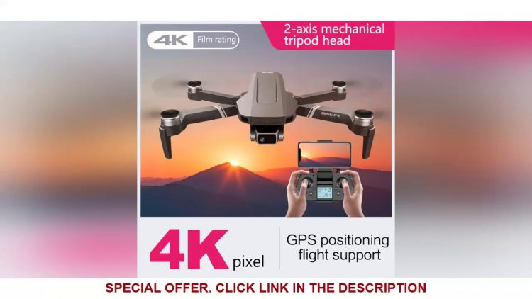 Review F4 Drone 4K 5G HD Mechanical Gimbal Camera GPS System Supports TF Card Drones Stabilier Dist